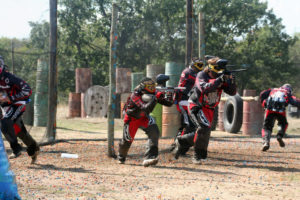 Equipo de paintball madrid preparado