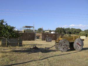 Escenario western en megacampo paintball en madrid