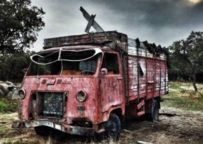 Megacampo camión escenario Berlín