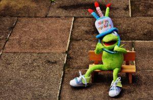 Frog rana de cumpleaños